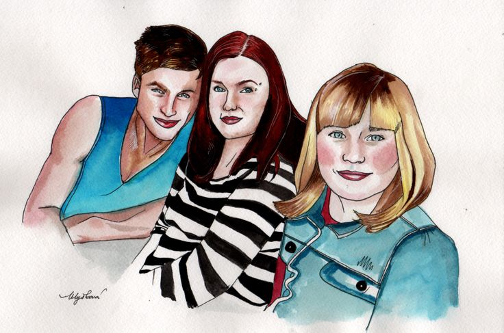 Family portrait 2014 aquarelle, markers by The Picturesque