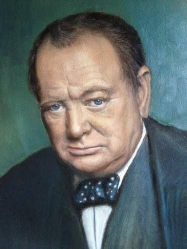 """Saatchi Art Artist Tatiana Wilson; Painting, """"portrait of Winston Churchill"""" #art"""