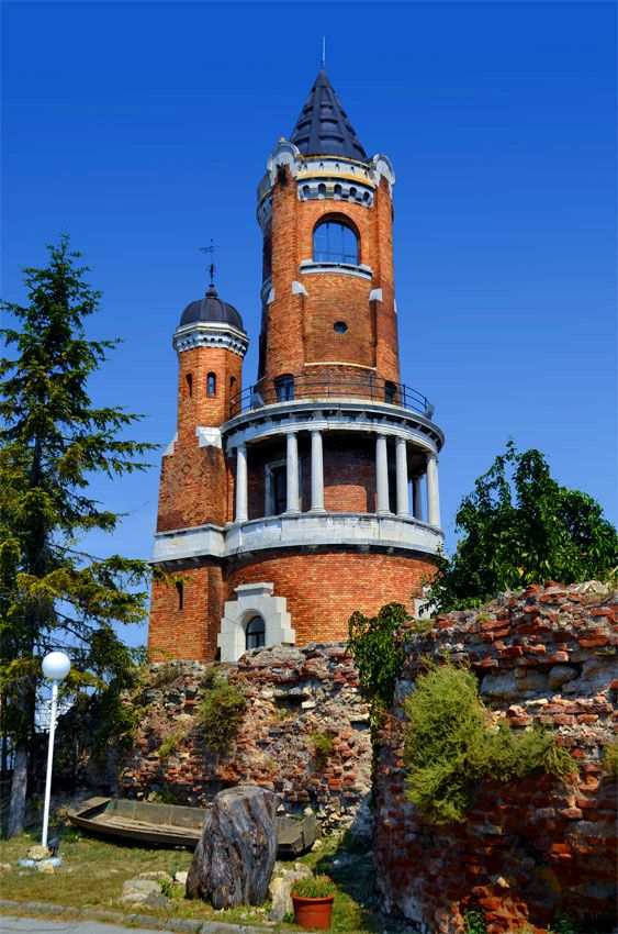 Gardos Tower, Belgrade, Serbia. Gardoš Tower or Millennium Tower is a memorial tower built (officially opened on August 20, 1896) to celebrate a thousand years of Hungarian settlement in the Pannonian plain. (V)