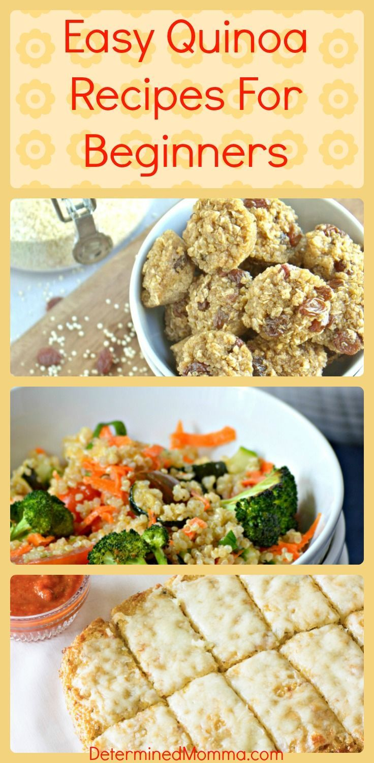 a collection of easy quinoa recipes for beginners