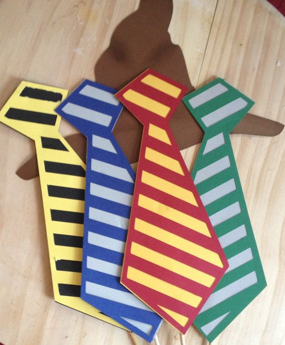 Harry Potter Hogwarts House Ties and Sorting Hat Photo Booth Props / Wedding photo booth props / Birthday photo booth