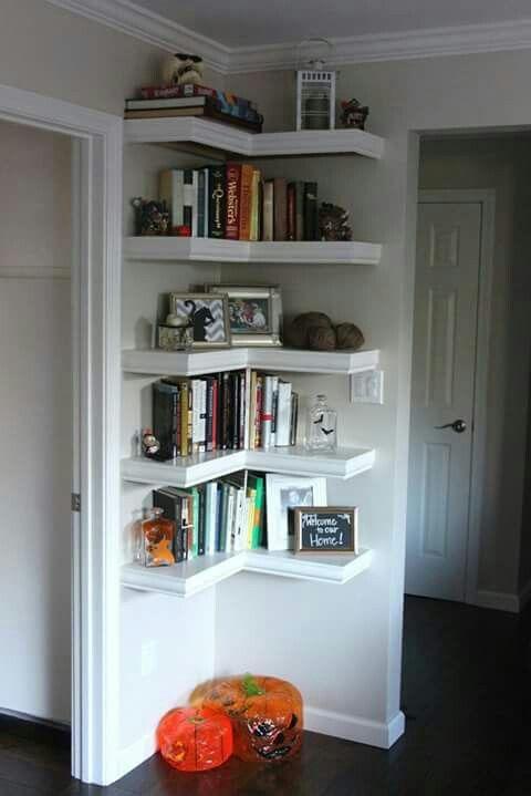 Esquinero para libros.