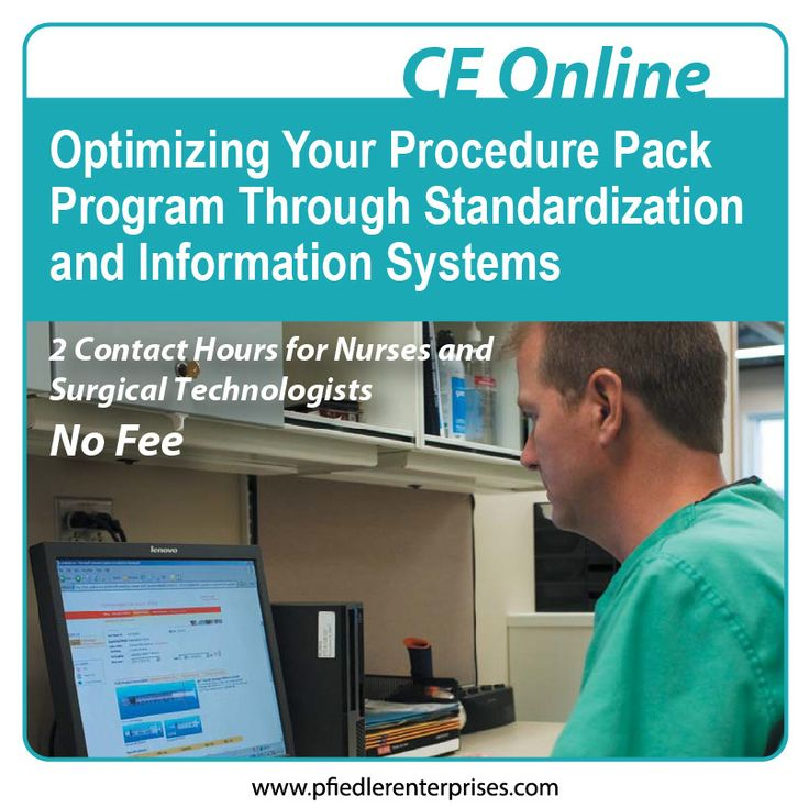This continuing education activity will familiarize perioperative nurses and nurse managers with the benefits of an online, information systems approach to managing custom packs. The advantages of using an online system for direct access to valuable information about a procedure pack program will be discussed.