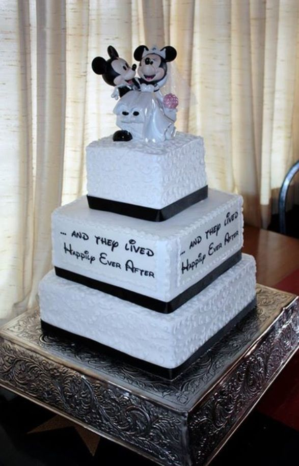 Disney wedding cake. This is going to happen.....very soon!!!
