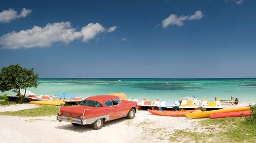 Beautiful beaches of Cuba #kilroy #veteran #beach #boats #car