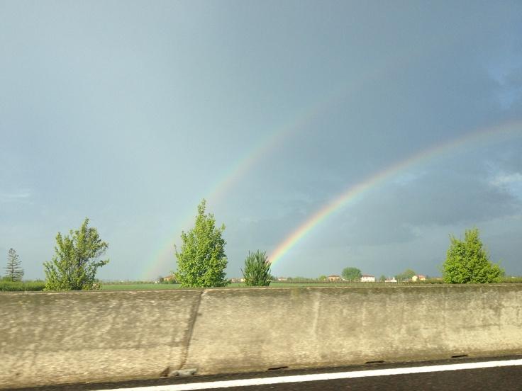 double rainbow near Bologna IT