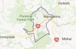 Map of Mangakino New Zealand