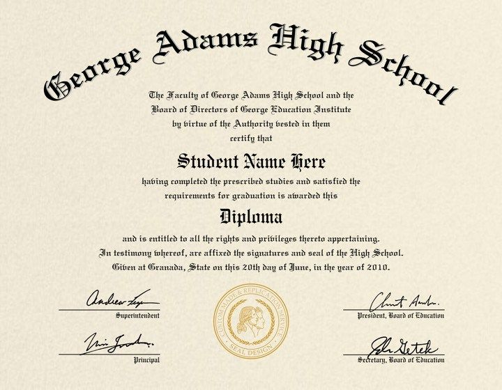 photo regarding Printable Diploma Template known as 60+ No cost Superior Faculty Degree Template - Printable