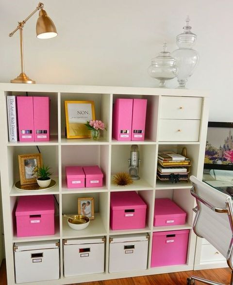 ikea office shelves. NEW OFFICE Ikea Storage And Organization Pink Boxes From Apothecary Jar Accent NOT For Me Tho Office Shelves