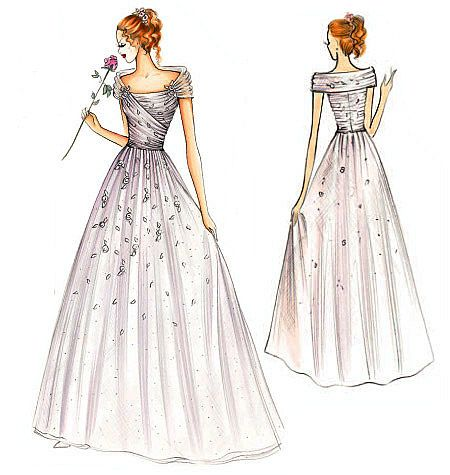 vogue wedding dress patterns | FS939 | Marfy Dress | Bridal | Vogue Patterns