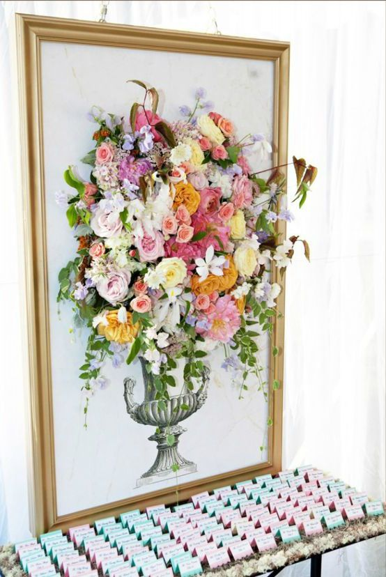 Here's a clever and somewhat cheeky idea: adding faux flowers to a floral painting, for just a little extra texture.