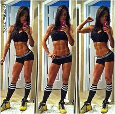 I really like the workout split- Fitness Model Bella Falconi's Workout Routine