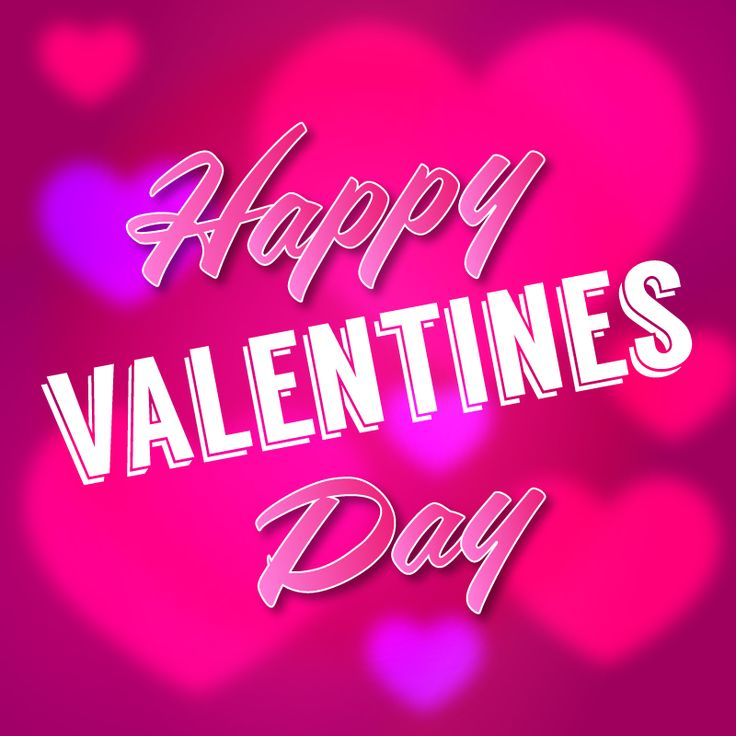 Happy Valentines Day Hearts Background – Freemocks