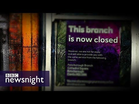 The impact of bank branch closures on local communities - BBC Newsnight