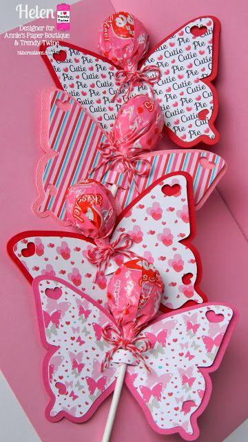 más y más manualidades: Obsequios de mariposas con dulces.