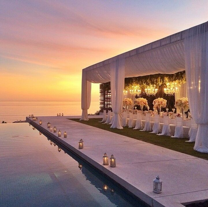 Wedding decoration at Alila Villas Uluwatu, Ubud, Bali, Indonesia. My dreams.