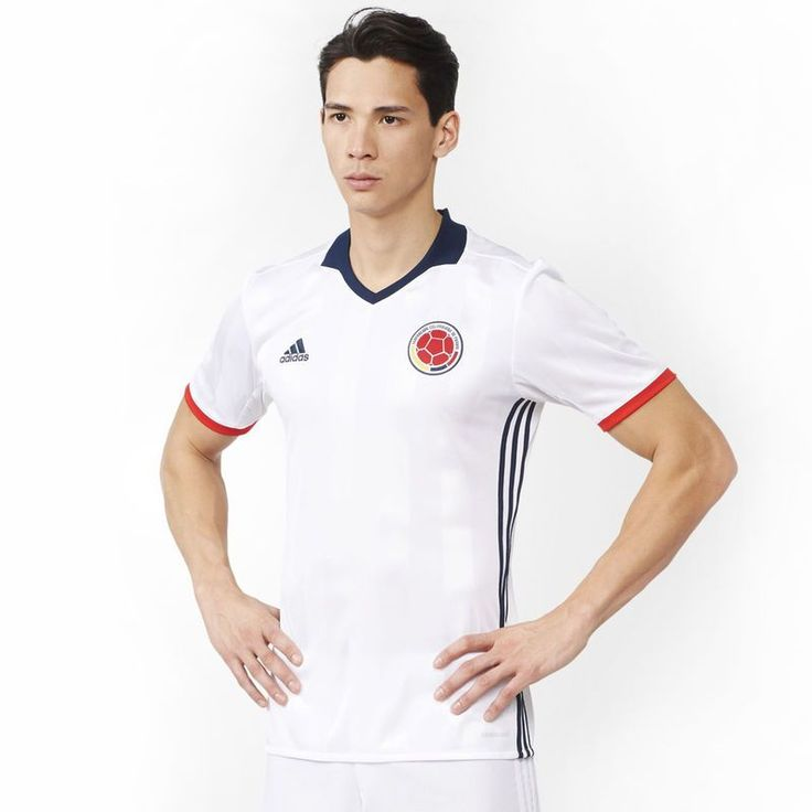 Colombia adidas 2016/17 Home Jersey - White/Navy