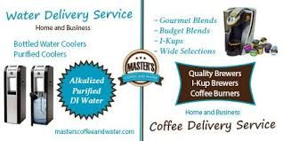 Masters coffee and water strives to be the premier supplier for Office Coffee Service and  Bottled Water Delivery to businesses and home. Call us at 760-244-5073.