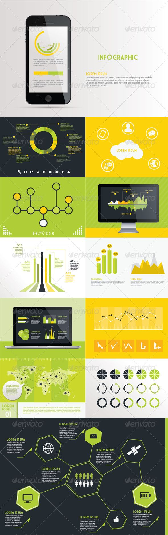 Infographic Kit  #GraphicRiver         A Professional Infographic kit for great & creative presentations.   All elements are vector Layered ai and eps file that can be scaled whilst remaining sharp. Well organised and easy to update   MacBook Iphone and Imac included in the Vector file   ai CS5 and eps CS3   Fonts :   Market Deco (  .dafont /market-deco.font )   Geneva (  .fonts101 /fonts/view/Uncategorized/36776/Geneva )     Created: 28February13 GraphicsFilesIncluded: VectorEPS…