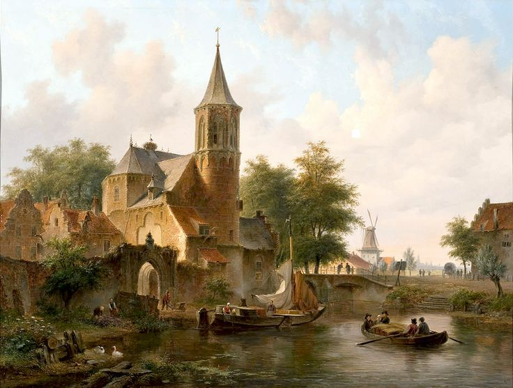 "hove bartholomeus townview probably the hague 1845 (from <a href=""http://www.oldpainters.org/picture.php?/27527/category/12029""></a>)"