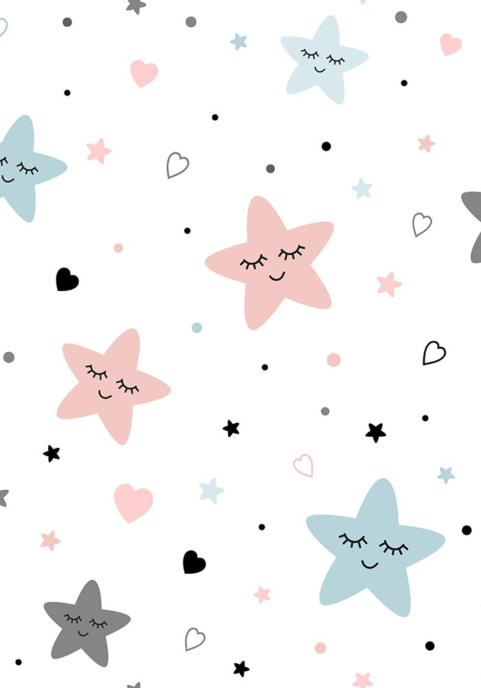 Stars Moon Baby Patterns Icons Cute Patterns Wallpaper Pink Wallpaper Iphone Watercolor Wallpaper Iphone