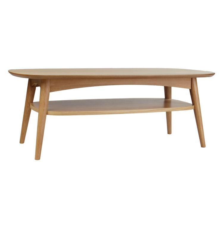 Stockholm Jakob Coffee Table with Shelf - Matt Blatt