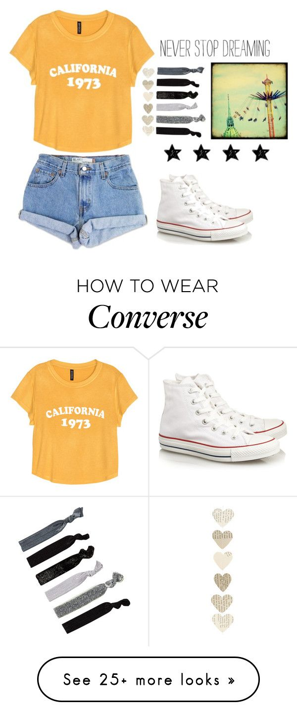 """hello"" by jamwich on Polyvore featuring Levi's, H&M, Converse and France Luxe"