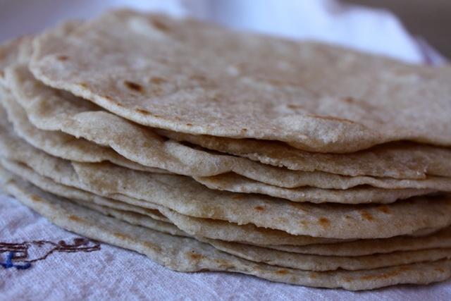 homemade whole-wheat tortillas!