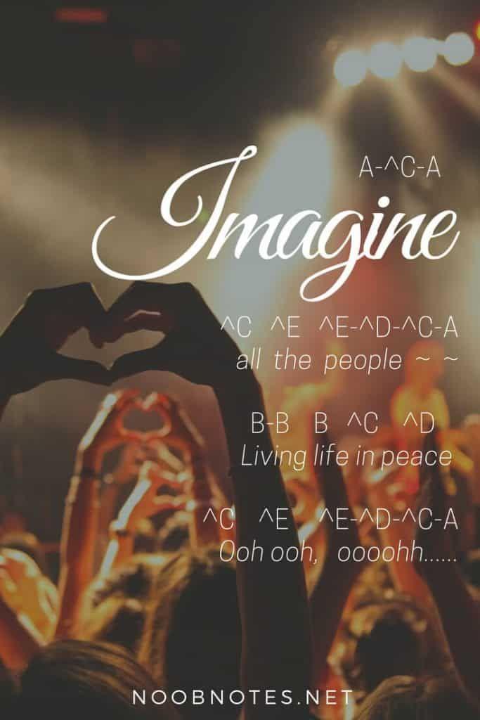 Imagine John Lennon Imagine John Lennon Music Notes Piano Songs