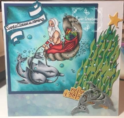 Christmas Under the Sea Digi Stamp by SabrinaStamps Card by http://pypercreations.blogspot.nl/