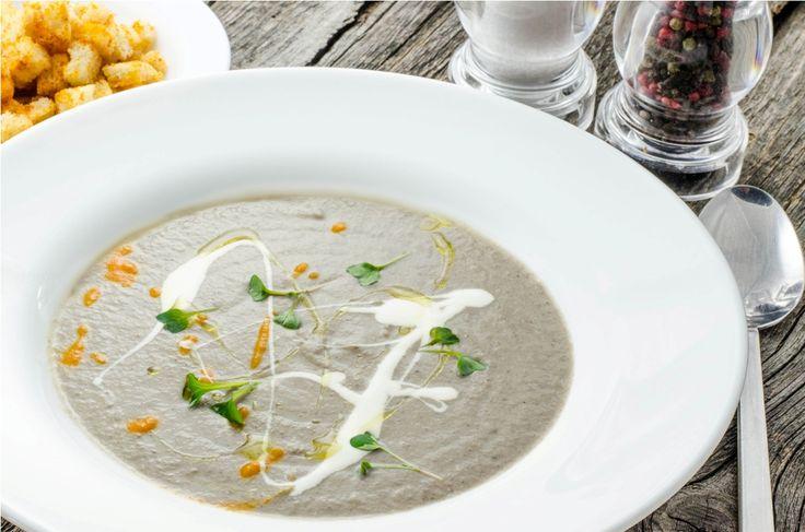 Supa crema de ciuperci de padure