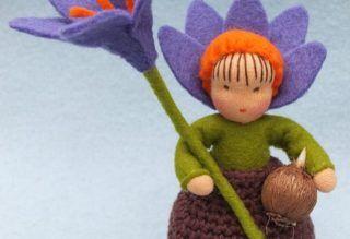 Krokus bolletje gehaakt en vilt, Atelier Pippilotta, Het Vrolijke Nest