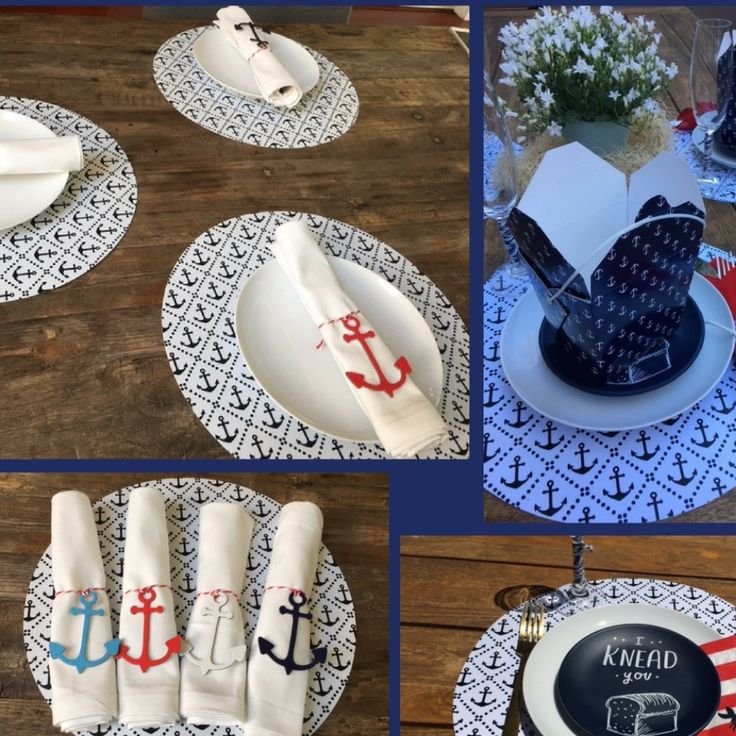 Order our Anchor Placemats and get those cute Anchor napkin holders for FREE