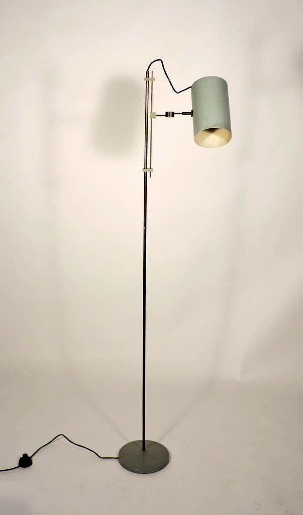 Giuseppe ostuni burnished brass and enameled metal floor for Hyatt 6 light floor lamp brass