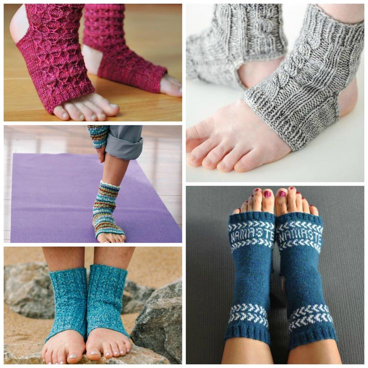 Roundup: 10 knitting patterns for yoga socks, curated by The Feisty Redhead for Craftsy