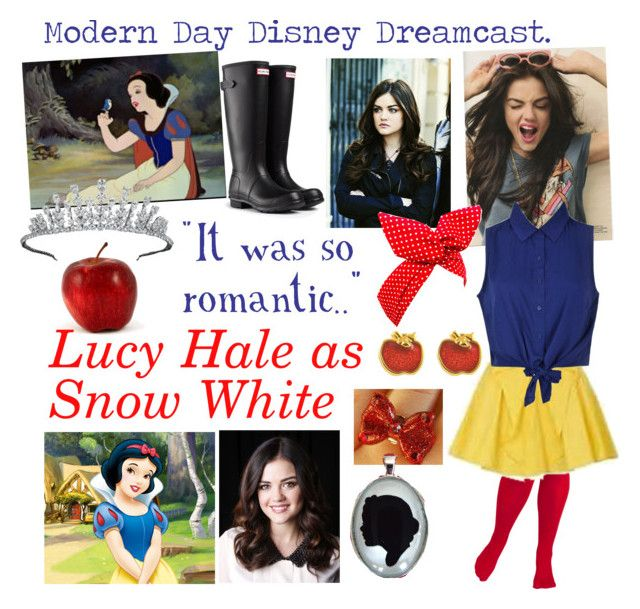 """""""Modern Day Disney Dreamcast:Snow White"""" by iluvepeeta ❤ liked on Polyvore featuring Wildfox, Hunter, Van Cleef & Arpels, Disney Couture, Disney and modern"""