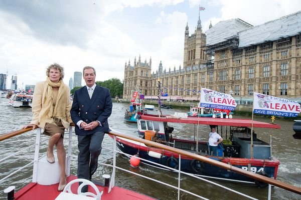 Kate Hoey Pictures - Nigel Farage Joins Fishing For Leave On A Flotilla Down The Thames - Zimbio