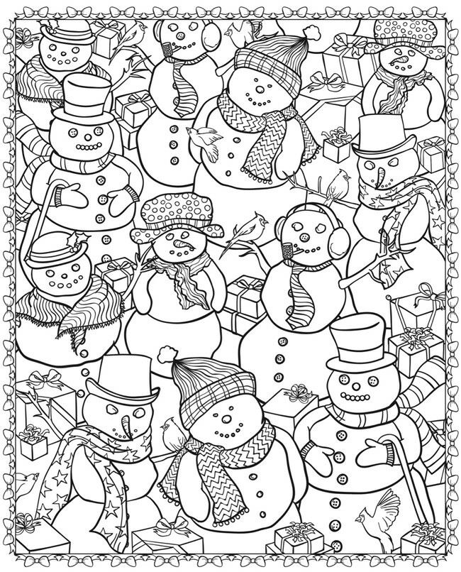 adult christmas snowman coloring pages printable and coloring book to print for free find more coloring pages online for kids and adults of adult christmas
