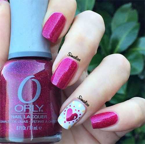 adorable valentine's day nail art 2016 - Styles 7