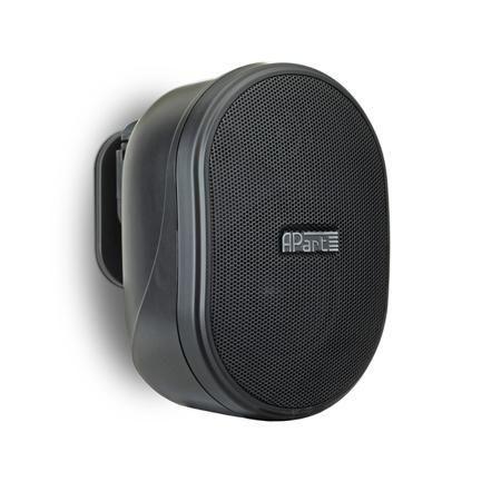 APart Apart OVO3T Black  — 3646 руб. —  Компактный настенный громкоговоритель, предназначенный для озвучивания небольших помещений (небольшие офисы, кафе, магазины и др). 16 Ом / 100 В, динамики: 1  ВЧ и 3  СЧ/НЧ, частотный диапазон: 90 Гц - 20 кГц, чувствительность: 86 дБ.