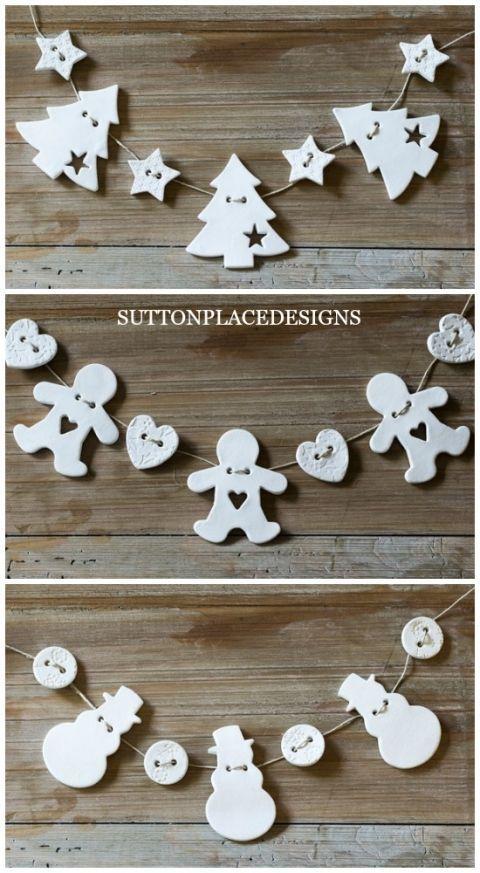 Handmade Air Dry Clay Christmas Ornaments – #Air #…