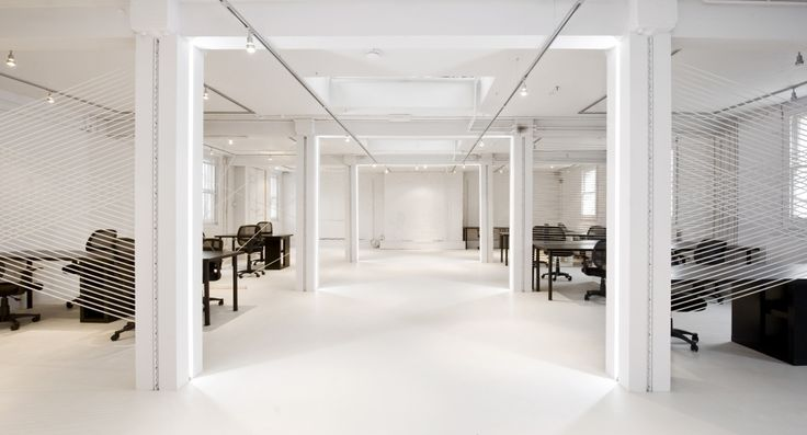 Emulating the black and white corporate suit. Office, London/ 4M Group