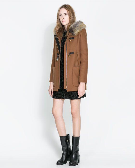 Zara manteau duffle coat