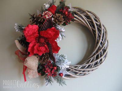 Świąteczny, bożonarodzeniowy wianek, Christmas wreath by ProjectGallias