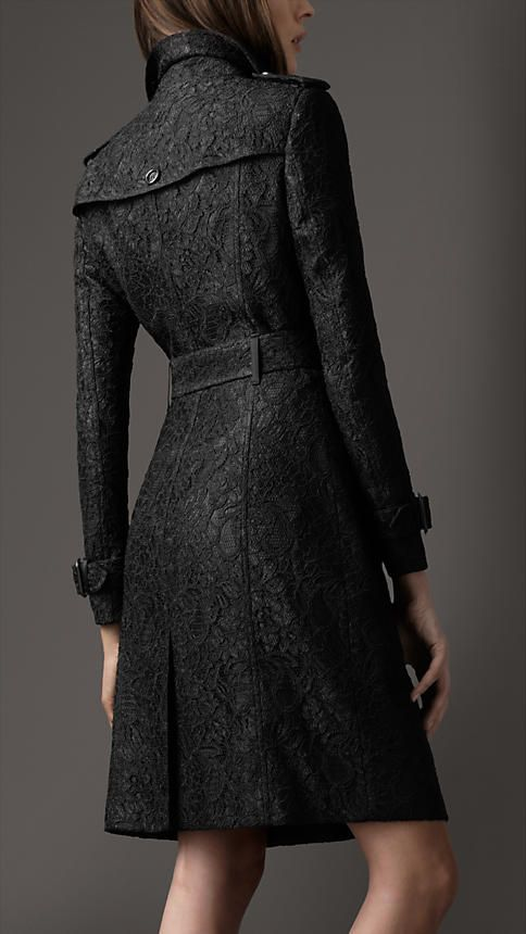 Burberry long lace trench coat.... Burberry is seriously my favorite brand. :)