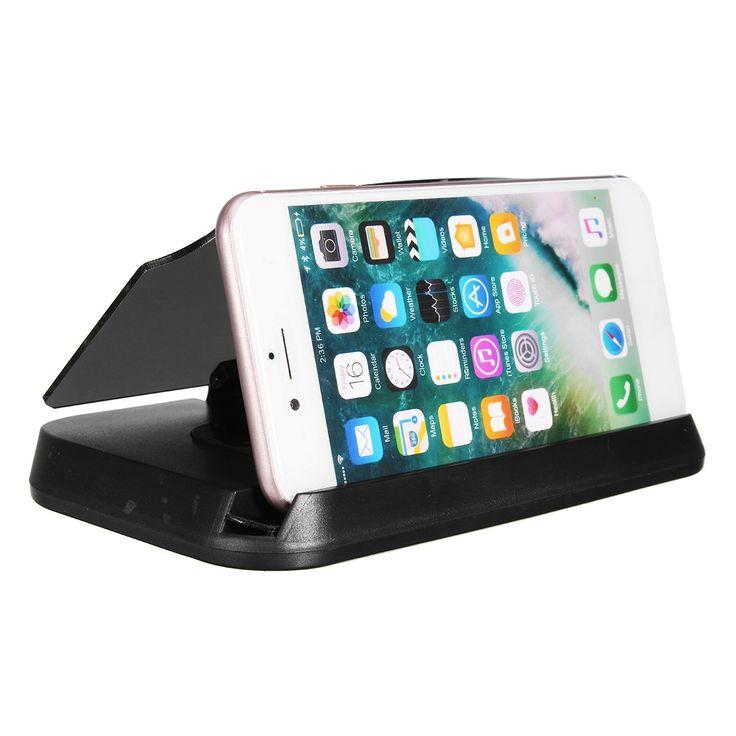 2 in 1 HUD Head Up Display Navigation Car GPS Phone Mount Bracket Holder for iPhone Samsung Xiaomi