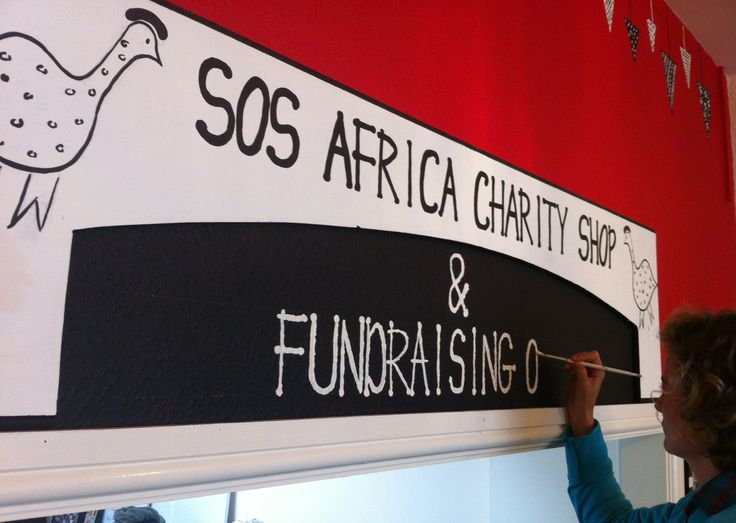 Our African #CharityShop has been decorated throughout by #ZimbabweanArtist Claudia Titley...