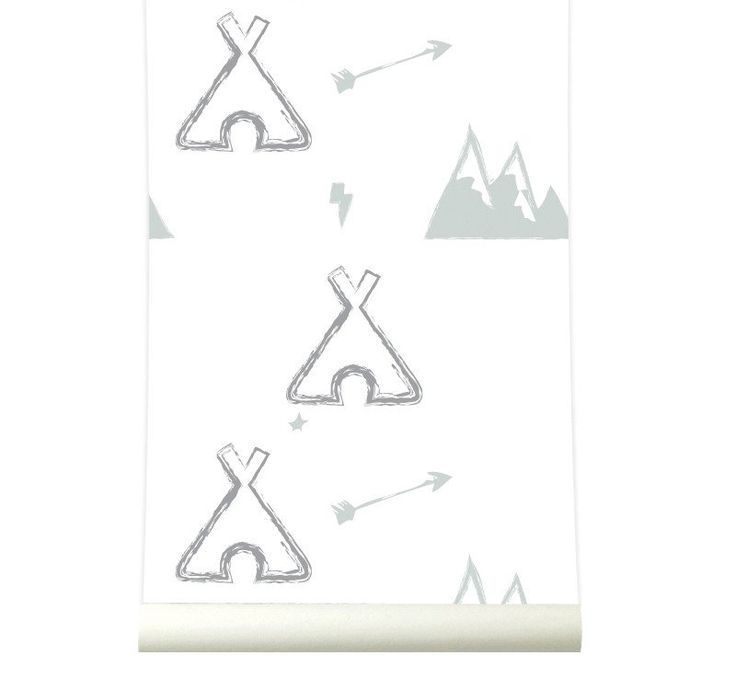 Behang Tipi grey
