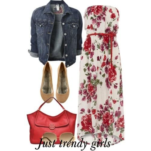 maxi dress with blazer  Summer maxi dresses with jackets http://www.justtrendygirls.com/summer-maxi-dresses-with-jackets/