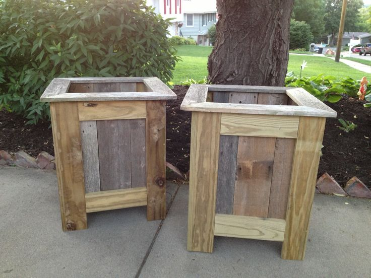 Fabulous reclaimed wood planters! - 14 Best Images About Wood Planters On Pinterest Featured